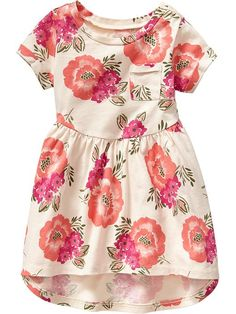 Floral Hi-Lo Jersey Dresses for Baby Product Image