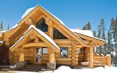 Log cabins 393431717441900914 - If you have to be stuck in a winter snow storm, wouldn't you rather be in a log home? These 12 snow-covered log cabins offer warmth a traditional build can't compete with. Source by foxintox Diy Log Cabin, How To Build A Log Cabin, Log Cabin Kits, Log Cabin Homes, Log Cabins, Mountain Cabins, Mountain Biking, Log Home Plans, House Plans