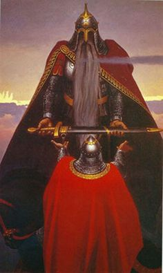 Святогор. Богатырь-Гора - Огромный вес Святогора мешал ему покинуть свой пост и переселиться в иные места.