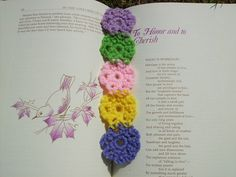 Scrap+Yarn+Crochet:+Free+Floral+Bookmark+Crochet+Pattern