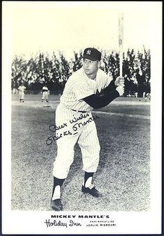 New York Yankees Vintage Mickey Mantle Holiday Inn 5 x 7 Glossy Photograph   eBay