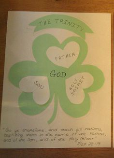 Great object lesson for St. Paddy's Day!