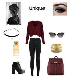 """""""Untitled #456"""" by fashiongirl-8808 ❤ liked on Polyvore featuring Gucci, Red Herring, Charlotte Russe, BKE, Tory Burch, New Look and Ardell"""