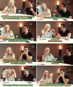 #Tvd cast at SDCC 2016 -  Interviewer: What are you going to miss now it's the last season?  Paul: Candice!