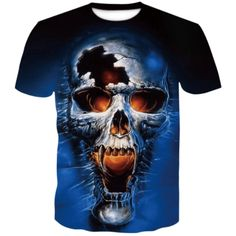 Cracked Skull T-Shirt | Skullflow Skull Shirts, 3d T Shirts, Skull Print, Printed Shorts, Tshirts Online, Mens Tees, Short Sleeve Tee, Types Of Sleeves, Graphic Tees