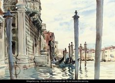 John Singer Sargent - Venice, Watercolors  Bing Images
