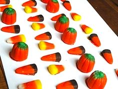P is for Pattern - use fall candy to practice sequencing