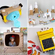 20 coolest toys you can make from cardboard. Great ideas for kids' crafts and indoor activities, plus fun options for DIY Christmas gifts.