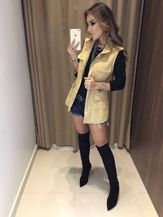 Imagem 1 Sport Chic, Chic Outfit, Fall Winter Outfits, Summer Outfits, Winter Skirt, Office Outfits, Short Skirts, Casual Chic, Beautiful Outfits