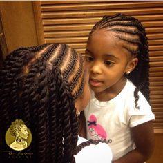 style de coiffure avec cheveux naturels ou artificiels en tresses collées (cornrows)