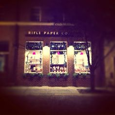 the lovely brick & mortar of rifle paper co. / @Anna Bond