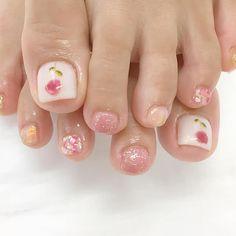 Cute and Fun Designs for Toenails. So Nails, Cute Toe Nails, Feet Nails, Pretty Nails, Feet Nail Design, Toe Nail Designs, Pedicure Designs, Pink Nail Art, Cute Nail Art