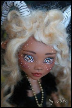 "OOAK Monster High Doll ""Little Forest Fawn""Repaint and Custom by Alex 