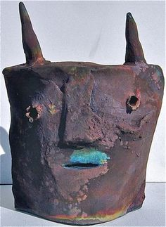 lois mendez - ceramic animal head mask
