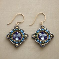 Miguel Ases brick stitch earrings from the Sundance Catalog: AEGINA EARRINGS