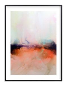 """""""Abstract Lands Series : Fields 4"""" - Art Print by V E R Y M A R T A in beautiful frame options and a variety of sizes."""