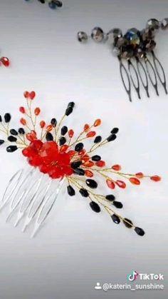 Black Hair Comb, Prom Hair Accessories, Handmade Wire Jewelry, Hair Grips, Dread Beads, Wedding Hair Pins, Boho Hairstyles, Hair Vine, Fall Hair