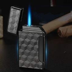 Buy New Turbo Jet Lighter Compact Butane Torch Metal Lighters Cigarette Accessories Gas 1300 C Windproof Petrol Ping Sound Lighter Smoking Accessories, Cool Gifts, Gifts For Friends, Lighter, Compact, Jet, Pipes, Tree Shop, Torches