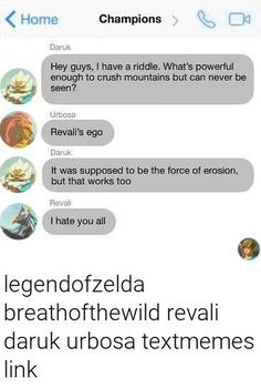 Not even the Goron Tunic could've saved him from that burn xD Legend Of Zelda Memes, Legend Of Zelda Breath, Funny Memes, Jokes, Video Game Memes, Link Zelda, Breath Of The Wild, Gaming Memes, Videogames