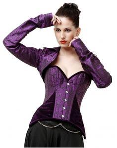 blue damask steel boned overbust corset act  corsetsuk