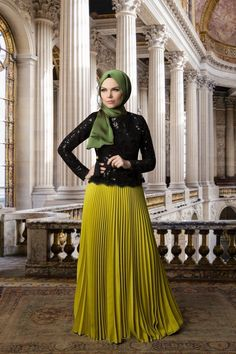 Muslima Wear Payetli Kenari Dantelli Bluz-Siyah-01