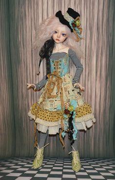 """OOAK """"Moulin Rouge-1"""" SD Dollstown Elf, SD Kaye Wiggs Harpia✿Doll✿Dress"""