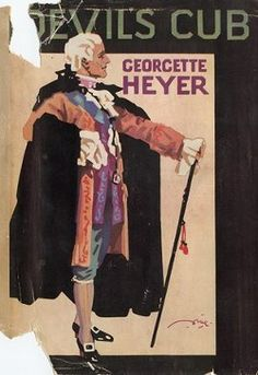 """This is in the 4 pt series that started w/ These Old Shades. Devil's Club by Georgette Heyer """"You elected to come wirh me, and by God you'll obey me, if I have to lay my whip about your sides! Historical Romance, Historical Fiction, Georgette Heyer, Album Covers, Book Covers, Best Mysteries, Romance Authors, Book Suggestions, Book Cover Art"""