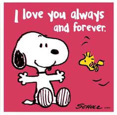 I LOVE you always and forever.