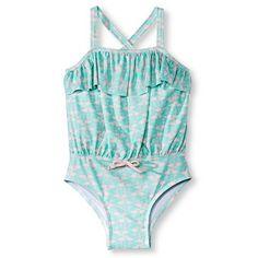 Baby Girls' One Piece Swim Suit - Mint