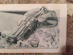 Coca Cola Blotter 1931 Pure As Sunlight.