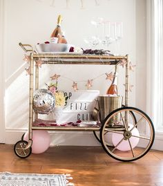 Affordable Bar Cart Ideas For New Years Eve Party Decoration 17