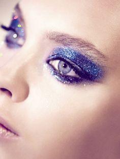 beauty, blue, blue glitter make up, eyes, eyeshadow, make up, makeup