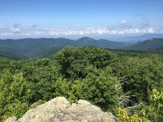 View from the summit of the Frazier Discovery Trail, along the AT in Shenandoah National Park