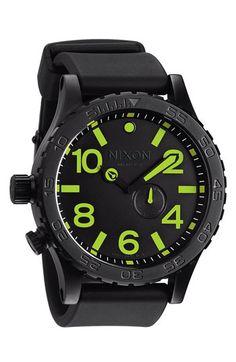 Nixon 'The 51-30 PU' Rubber Band Watch