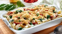 Recipes for chicken breasts and pasta Best Chicken Casserole, Pasta Casserole, Easy Casserole Recipes, Pasta Florentine, Chicken Florentine, Sauce Gnocchi, Chicken Penne, Top Recipes, Easy Chicken Recipes