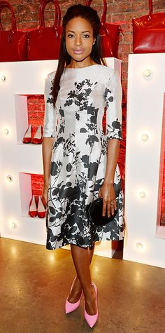 Look of the Day - July 2, 2014 - Naomie Harris in Vivienne Westwood from #InStyle