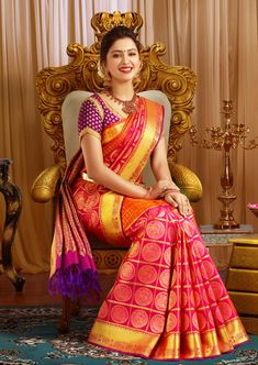 ARRS Silks is the palace of traditional south Indian Pattu Sarees, Wedding silk sarees specially crafted for weddings. Explore our wedding Silk sarees collections online and buy the finest Bridal Silk Sarees online. Bridal Sarees South Indian, Wedding Silk Saree, Indian Bridal Fashion, Kanjivaram Sarees Silk, Pure Silk Sarees, Bridal Blouse Designs, Saree Blouse Designs, Indische Sarees, Lehenga Saree Design