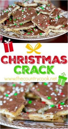 Christmas Crack (Cracker Toffee) recipe from The Country Cook. This takes only 15 minutes to make and everyone LOVES it! A perfect treat that makes an awesome gift!