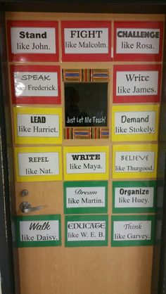 Black History Month - Classroom Door - Conversation Starters  (High School)