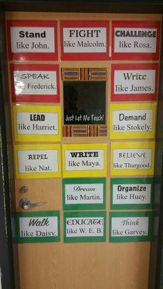 Black History Month - Classroom Door - Conversation Starters  (High School)