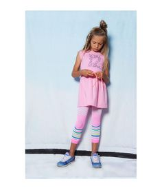 6e79a28043a3 Mim Pi Pink Stripe Footless Tights 1502. Kids Outfits GirlsLittle Girl  OutfitsLittle Girl FashionKids GirlsKids FashionFriends FashionCute ...
