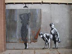 Graffiti Art, Street Art Banksy, Posters Vintage, Retro Poster, Painting Prints, Canvas Prints, Art Prints, Urbane Kunst, Banksy Canvas