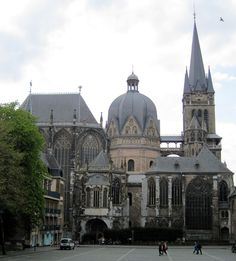 Charlemagne's Palace Chapel at Aachen I just wrote a huge paper about Charlemagne. Never imagined aachen was this beautiful