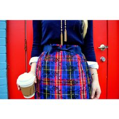 Navy & Red Embroidered Taffeta Plaid Christmas Skirt ($70) ❤ liked on Polyvore featuring skirts, grey, women's clothing, plaid mini skirt, plaid skirt, gray skirt, tartan skirt and tartan mini skirt