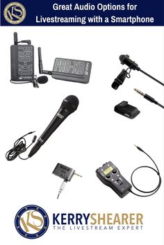 Here are some of my favorite audio options for livestreaming and recording great sounding videos with a smartphone. I LOVE this gear!