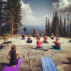 yoga with a view.  perfection.