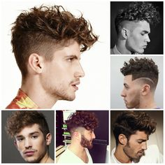 2016 Men's Trendy Undercut Hairstyles for Curly Hair-Men who have curly hair often find it hard to change their hairstyle into a new one because the final result may not be so satisfying. However there are million