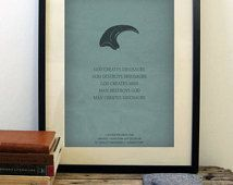 Jurassic Park poster, minimalist movie poster