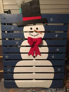 Snowman Pallet - DIY Christmas decor