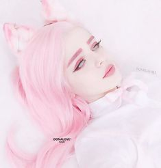 Kawaii Makeup, Cute Makeup, Makeup Art, Pastel Wig, Pink Wig, Lilac Hair, Green Hair, Blue Hair, Aesthetic People